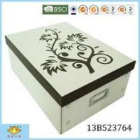 Buy cheap Specail Wooden Pattern Paper Foldable Box With Metal Card holder and Buttons from wholesalers