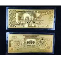 China Gold foil collectable banknotes 24k gold indian rupee notes wholesale