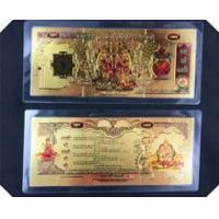 China New design Two sided Hindu gold plated currency notes wholesale
