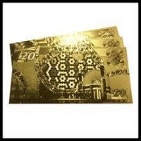 China Factory wholesale 24k gold embossing banknotes wholesale
