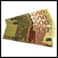 Buy cheap Real currency bills US dollar bills 24k golden Pure Gold foil banknotes from wholesalers