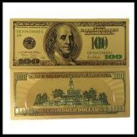 Buy cheap Gold foil 24k pure gold banknotes, pure gold banknote best business gift from wholesalers