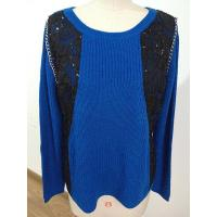 China 2016 Fashion Knitted Top With Sequin And Chain On Front wholesale