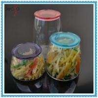 China Airtight Kitchen Storage Jar Glass Container with Plastic Lid wholesale