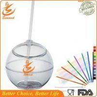 China 20 oz BPA FREE straw cup in ball shape wholesale