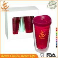 China 16oz wholesale double wall plastic tumbler with lid and straw wholesale