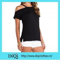 Buy cheap Promotion prodcuts 2015 ladies Black Promotional T-shirt from wholesalers