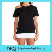 Buy cheap Promotion prodcuts ladies Black Promotional T-shirt from wholesalers