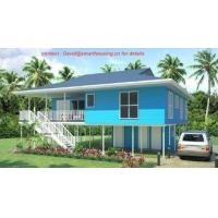 China Fireproof Two-Story Prefab Beach Bungalow , Blue Home Beach Bungalows wholesale