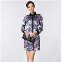 China Articles: Ladies Woven Dress With Long Sleeve wholesale