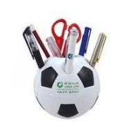 China Useful Plastic pen holder/ football shape pen holder wholesale