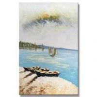 China Modern Canvas Natural Village Scenery Art Picture of Painting wholesale