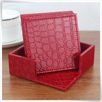 China &Travel Organizer croco leather square in red wholesale