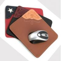 China &Travel Organizer classical pu leather mouse pad wholesale