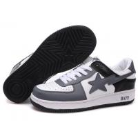 China Bape New and Better shoes grey / white / black wholesale