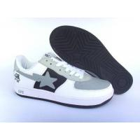 China Bape New and Better shoes gray / white / black wholesale