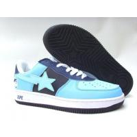 China Bape New and Better shoes light blue / black wholesale