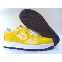 China Bape Cartoon shoes all yellow / white star wholesale