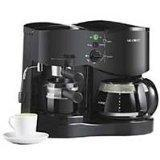 China Mr. Coffee ECM21 4-Shot Espresso Machine and 8-Cup Coffeemaker Combo, Black wholesale