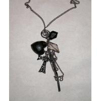 China Sweater Fashion Necklace with big Heart and Cross wholesale