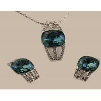 China Chain Set with 18k White Gold plating and Swarovski Crystal wholesale