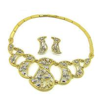 China Gold plating and silver Necklace Set wholesale