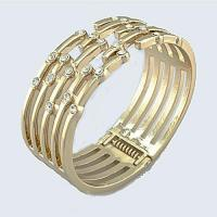 Buy cheap Bangle 18K gold plated & crystals on top from wholesalers