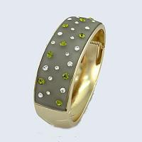 Buy cheap Bangle 18K gold plated & grey sparkle top from wholesalers