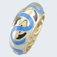 Buy cheap Bangle 18K gold plated-black&light blue design from wholesalers