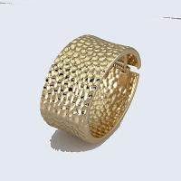 Buy cheap Bangle 18K gold plated dented design from wholesalers