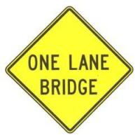 Buy cheap One Lane Bridge Sign from wholesalers