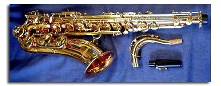 Quality 24k gold plated super 80 style tenor sax &yamaha kit for sale
