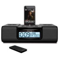 China iHome iH9 Alarm Clock Speaker System with Dock for iPod (Black) wholesale