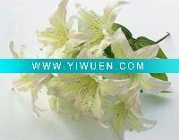 China Artificial Crafts(970) vivid artificial white orchid savona silk flower wholesale