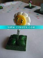 China Artificial Crafts(970) plants zombies polyresin marigold figurine home decoration wholesale