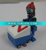 China Artificial Crafts(970) Plants vs zombies polyresin zomboni figurine home decoration wholesale