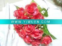 China Artificial Crafts(970) red 18 heads artificial rose flower wholesale