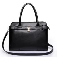 China NUCELLE Real Genuine Cow Leather Purse Satchel Tote Black wholesale