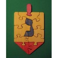 China Wooden Dreidel Educational Jigsaw Puzzle - A Spinning Top [W-1222] wholesale