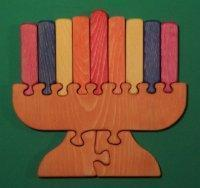 China Wooden Menorah Educational Jigsaw Puzzle - A Candelabra [W-1223] wholesale