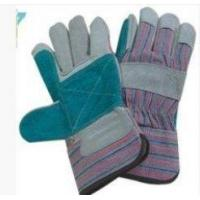 China L Rubberized Cuff, Half Lined, Cow Split Leather Work Gloves For Refuse Collection wholesale