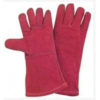 Light Weight Red fully lined Cow Split Leather Work Gloves With Kevlar Yarn Stitched