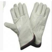 China Customized Natural Color Industrial Safety Cow Split Leather Gloves For Welding wholesale