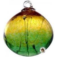 China Kitras Art Glass Gold Green Olde English Witch Ball wholesale