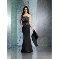 China Black Cheap Strapless Embroidery Mermaid Mother Of The Bride Dress 2011 wholesale