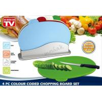 China 4pc Color Coded Chopping Board-as seen on tv wholesale