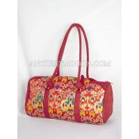China Red Suedette & Chinese Broacde Lady's Bag wholesale