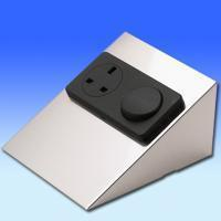 China 10A Switch + 13A Socket on a Double Stainless Steel Frame wholesale