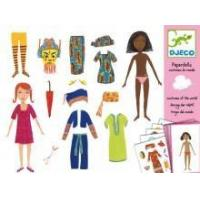 China Arts & Crafts Djeco Paper Dolls- Costumes Of The World wholesale