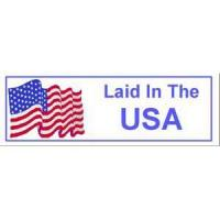 China Laid in the USA Label on sale